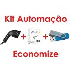 Kit Automação Leitor Codigo Barras  Programa Pdv  e Pen Drive