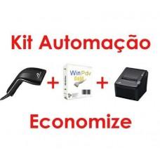 Kit Automação Leitor Codigo Barras  Programa Pdv  e Impressora